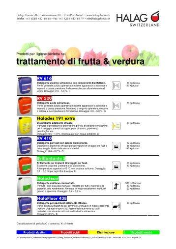 trattamento di frutta & verdura - Halag Chemie AG