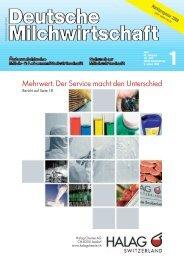 Mehrwert: Der Service macht den Unterschied - Halag Chemie AG