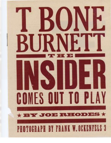T Bone Burnett - Joebo.net