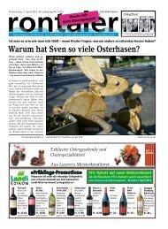 Warum hat Sven so viele Osterhasen? - Regionalzeitung Rontaler AG