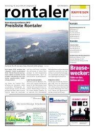 Preisliste 2013 - Regionalzeitung Rontaler AG