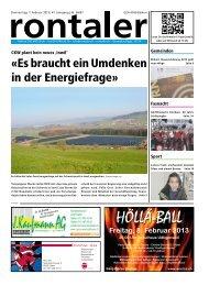 2013-06 - Regionalzeitung Rontaler AG