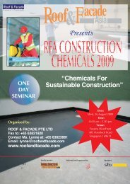 Chemicals For Sustainable Construction - Roof & Facade