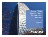 Energy Efficient façades Through Technology and ... - Roof & Facade