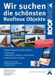 Folgende Kategorien werden prämiert: • Privater Bau ... - Roofinox