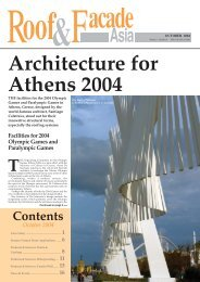 Architecture for Athens 2004 - Roof & Facade