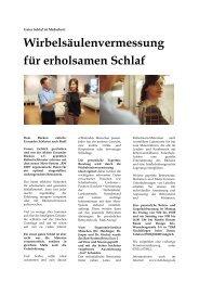 Wirbelsäulenvermessung für erholsamen Schlaf - Martin Körner ...