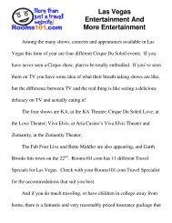 Las Vegas Entertainment And More Entertainment - Discount Family ...