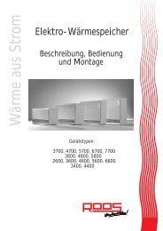 Beschreibung, Bedienung, Montage.Pdf - Roos GmbH