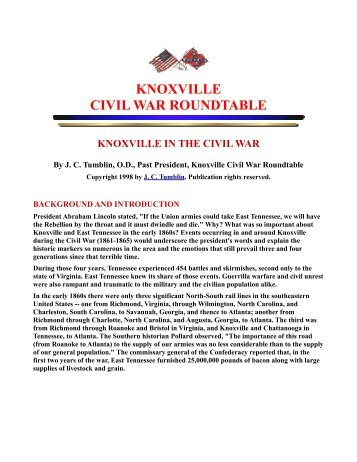 Knoxville in the Civil War - RootsWeb