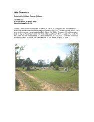 Hale Cemetery - RootsWeb