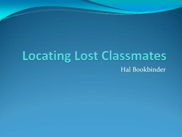 Locating Lost Classmates - RootsWeb - Ancestry.com