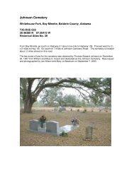 Johnson Cemetery - RootsWeb
