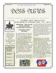 DCGS News - RootsWeb - Ancestry.com