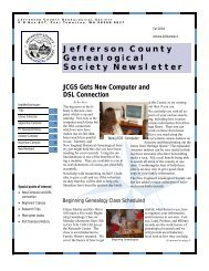 Genealogy Club newsletter Sept. - RootsWeb