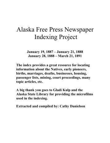 Alaska Free Press Newspaper - Alaska State Library