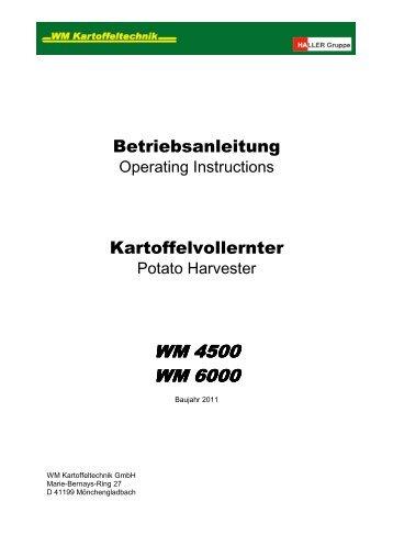 WM 4500 WM 6000
