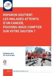 roparun soutient les malades atteints d'un cancer, pouvons-nous ...