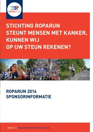 Sponsorbrochure Roparun 2014