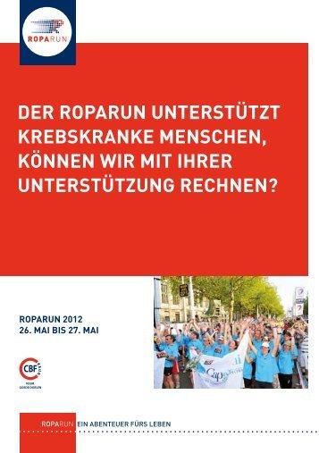 DeR RopaRun unteRstützt kRebskRanke Menschen, können wiR ...
