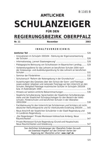 SchulanzeigerFebruar - Regierung der Oberpfalz - Bayern