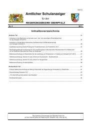 Amtlicher Schulanzeiger - Regierung der Oberpfalz