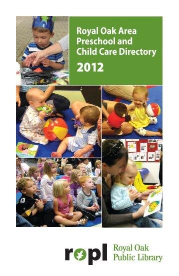 2012 Preschool Directory - Royal Oak Public Library