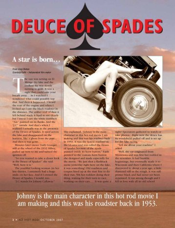 A star is born… Johnny is the main character in this hot rod movie I ...