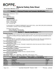 MSDS - Roppe Corporation