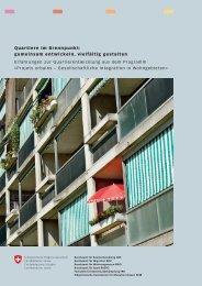 Quartiere im Brennpunkt: gemeinsam entwickeln, vielfältig gestalten ...