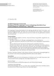 Merkblatt Eingetragene Partnerschaft Bundesgesetz über die ...