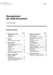 Baureglement der Stadt Rorschach