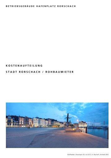 Kostenvoranschlag zum Hafengebäude vom 30 ... - Stadt Rorschach