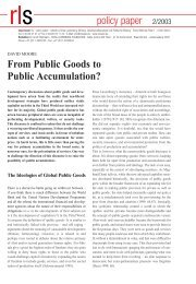 From Public Goods to Public Accumulation? - Rosa-Luxemburg ...