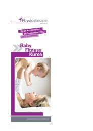 Baby Fitness Kurse Flyer
