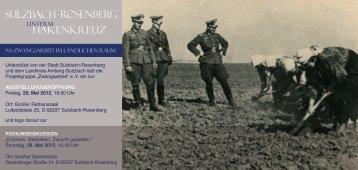 Sulzbach - Rosenberg HakeNkReuZ