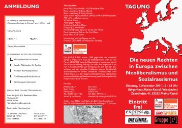 Flyer DL(B).indd - Rosa-Luxemburg-Stiftung