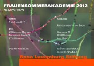 Netzwerke*n - Rosa-Luxemburg-Stiftung