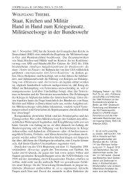 Staat, Kirchen und Militär Hand in Hand zum Kriegseinsatz ...