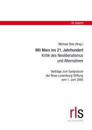 Marx macht Sinn! - Rosa-Luxemburg-Stiftung