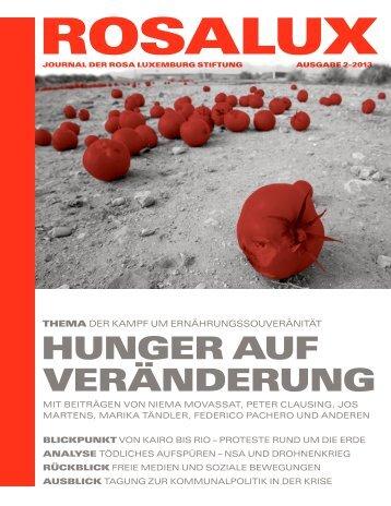 HungeR Auf VeRändeRung - Rosa-Luxemburg-Stiftung
