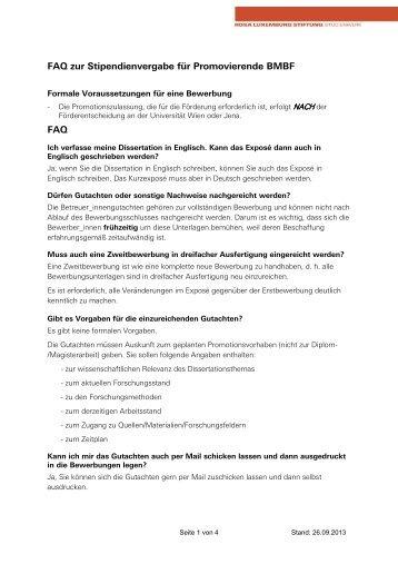 in Arbeit FAQ_Promovierende BMBF - Rosa-Luxemburg-Stiftung