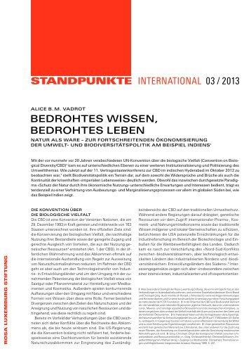 """ Bedrohtes Wissen, bedrohtes Leben"" (3/2013) - Rosa-Luxemburg ..."