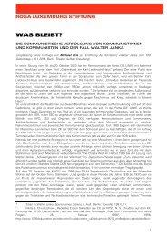 WAS BLEIBT? - Rosa-Luxemburg-Stiftung