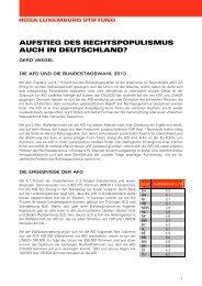RLS: Aufstieg des Rechtspopulismus auch in Deutschland?