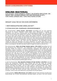 Gesamt-Analyse «Süddeutsche Zeitung - Rosa-Luxemburg-Stiftung