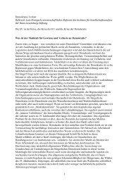 1 Demokratie-Verlust Referent: Lutz Brangsch, wissenschaftlicher ...