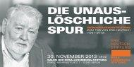 die unauS- lÖSchliche Spur - Rosa-Luxemburg-Stiftung