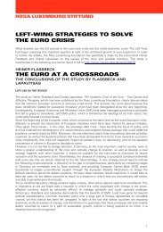 Left-Wing Strategies to Solve the Euro Crisis - Rosa-Luxemburg ...