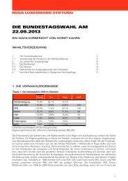 DIE BUNDESTAGSWAHL AM 22.09.2013 - Rosa-Luxemburg-Stiftung